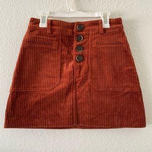 Zara Skirts - Corduroy mini skirt